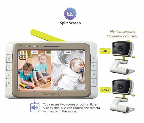 Moonybaby Split Screen Wide Angle Two Cameras System